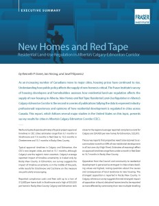 New Homes and Red Tape Executive Summary